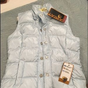 Ariat ice blue gorgeous down NWT vest ladies